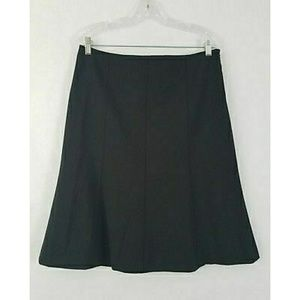 Theory Black A Line Skirt Size 12